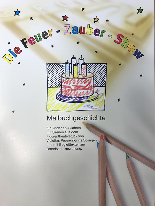 Feuerzaubershow Malbuch